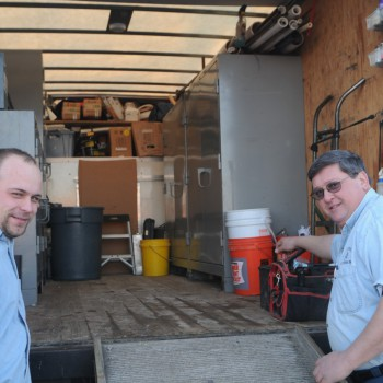 Tony and Greg with one of our Trucks